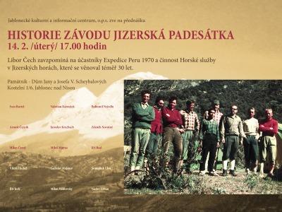 Přednáška Libora Čecha připomene historii Jizerské padesátky