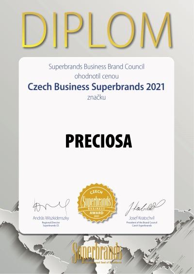 Prestižní cenu Superbrands 2021 získala společnost Preciosa Lighting