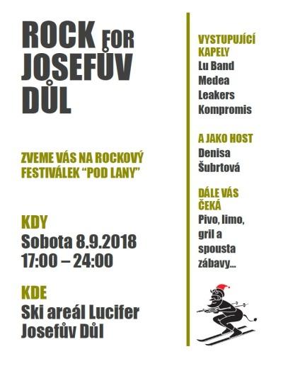 Rockový festiválek pořádají ve skiareálu Lucifer v Josefově Dole