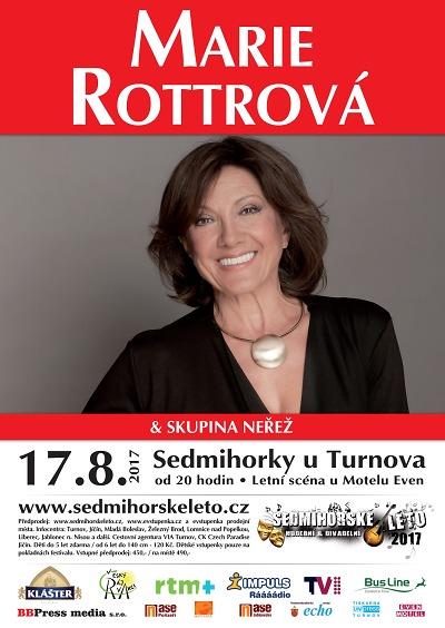 Do Českého ráje přijede zazpívat Marie Rottrová se skupinou Neřež