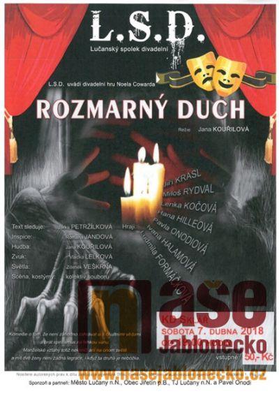 Na divadelní hru Rozmarný duch zavítejte do Desné