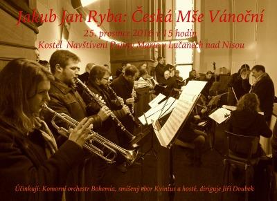 Dva vánoční koncerty pořádají v lučanském kostele