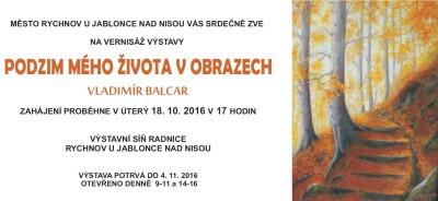 V Rychnově představují obrazy Vladimíra Balcara