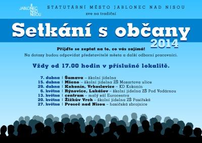 Každoroční setkání s jabloneckými občany letos začnou 7. dubna