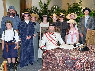 František Josef I. osobně zahájil výstavu v Severočeském muzeu