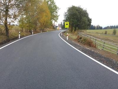 Z Bedřichova na Hrabětice vede opravená silnice