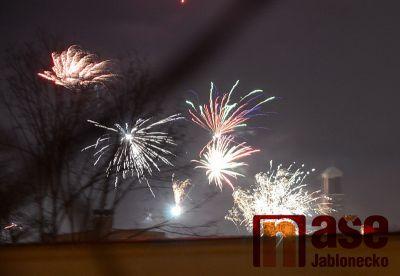 Obrazem: Silvestrovská noc  v Jablonci