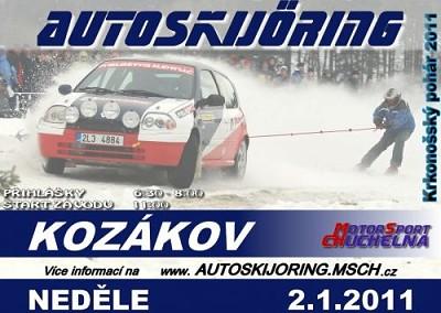Třetí ročník Krkonošského poháru v autoskijöringu je připraven