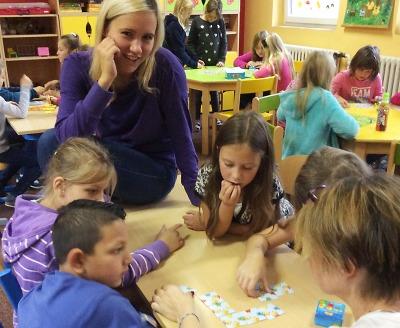 V plavské škole si děti vyzkoušely stolní hry