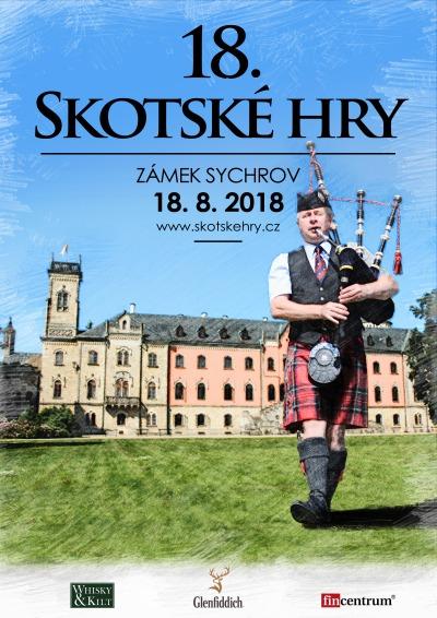 Tradiční Skotské hry se uskuteční již poosmnácté na Sychrově