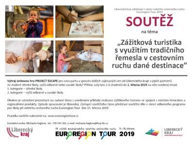 Kraj vyhlašuje vrámci Euroregion Tour 2019 soutěž pro studenty