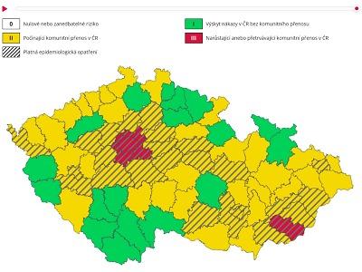 Liberecký kraj v zelené zóně, od 5. října zůstanou střední školy otevřené