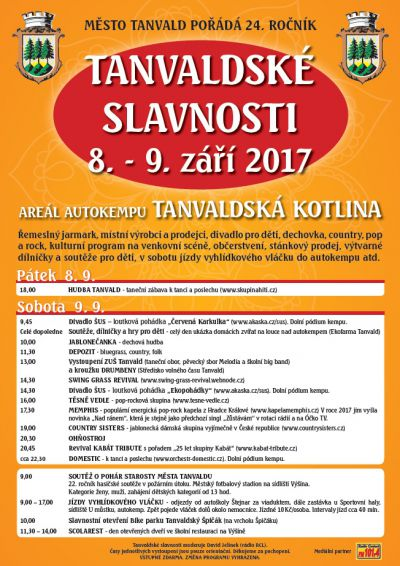 Druhý zářijový víkend oživí Tanvald městské slavnosti