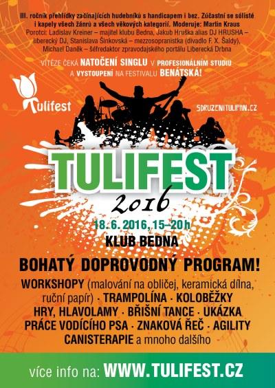 Tulifest 2016 představí publiku začínající hudebníky