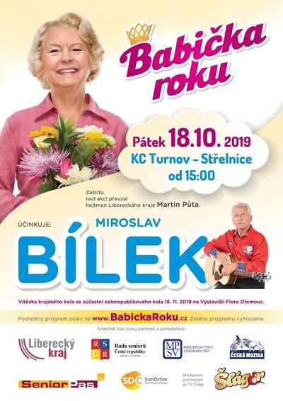 Krajská soutěž Babička roku se koná v říjnu v Turnově