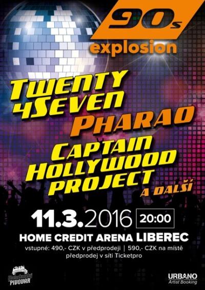 Twenty 4 Seven a Pharao vystoupí v březnu na ojedinělé akci v Liberci