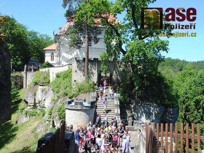 Dominanta hradu Valdštejna se už skví v novém hávu