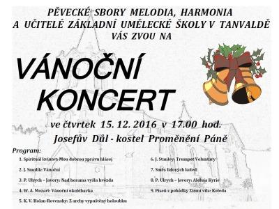 Pozvánka na adventní koncert do kostela v Josefově Dole