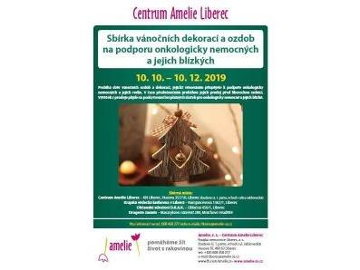 Vánoční sbírku na podporu onkologicky nemocných pořádá Amelie