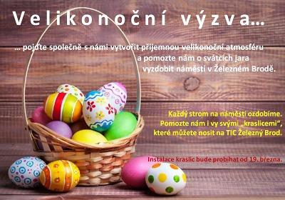 V Železném Brodě chtějí o Velikonocích vyzdobit náměstí kraslicemi