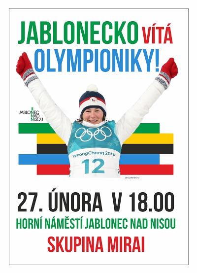 Jablonec uvítá olympioniky nejen ohňostrojem