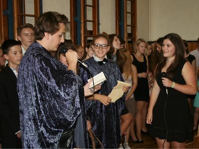 Čarodějnické vítání studentů 1. ročníku na Gymnáziu U Balvanu