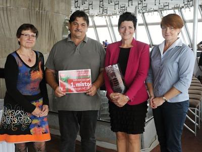 Vítězové soutěže Zlatá popelnice 2017 byli oceněni na Ještědu