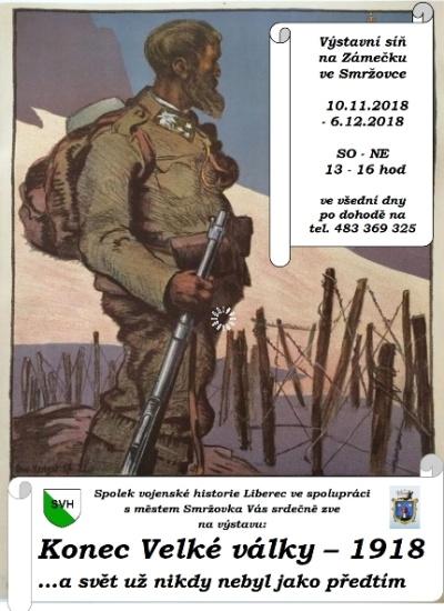 Výstava Konec velké války 1918 na Smržovce
