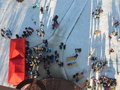 Turisté podesáté na Nový rok vystoupali na rozhlednu Nisanka