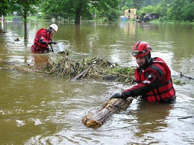 Povodně na Frýdlantsku hrozily, k uklidnění došlo až v neděli večer