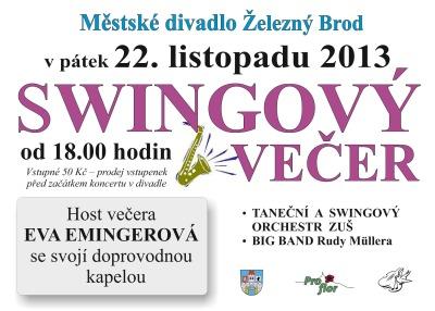 Hostem swingového večera v Železném Brodě bude Eva Emingerová