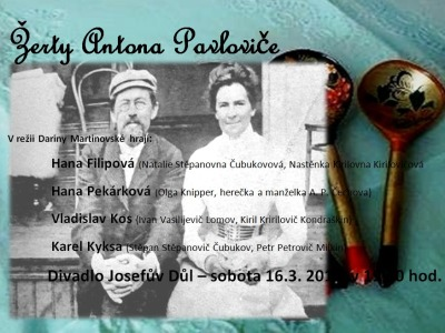 Hodkovičtí ochotníci ukážou v Josefově Dole Žerty Antona Pavloviče