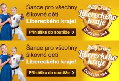 Zlatý oříšek hledá talentované děti z Libereckého kraje