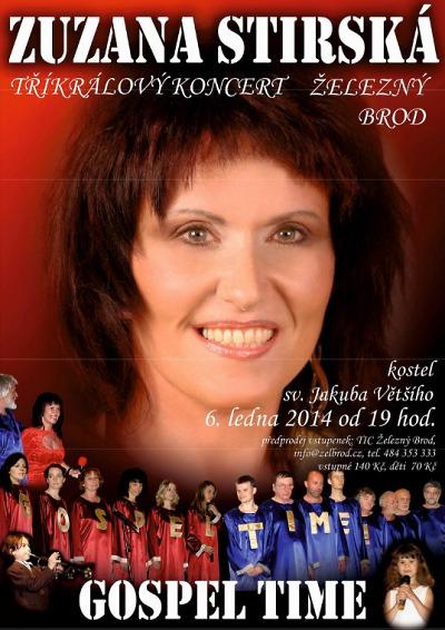 V kostele sv. Jakuba Většího zazpívá Zuzana Stirská a Gospel Time