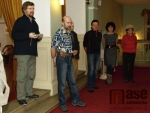 Vernisáž výstavy Zdeňka Daniela - Fasády XII v Městském divadle v Jablonci nad Nisou.