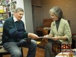Beseda s kandidátkou na prezidenta ČR Táňou Fischerovou v knihkupectví Serius v Jablonci nad Nisou.