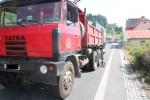 Nehoda motocyklisty na silnici první třídy č. 10 v obci Loužnice