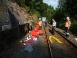 Mezi tunely nad tanvaldskou zastávkou spadla žena
