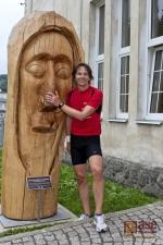 Europoslanec Edvard Kožušník se při svém běhu Českem zastavil i v Desné a v Albrechticích