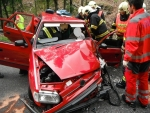 Dopravní nehoda dvou osobních vozidel na silnici I/10 za Železným Brodem směrem na Tanvald