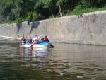 Vodní skauti z jablonce na závodě Tři jezy, který se jel v Praze na Vltavě