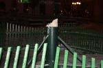 Zlomený vánoční strom na jabloneckém náměstí