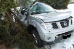 Nehoda vozidla Nissan v osadě Jizerka