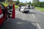 Nehoda motocyklu s osobním autem v Nové Vsi