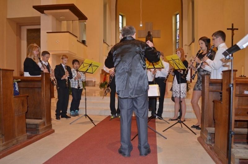 Koncert Dechové harmonie a jejích hostů v jabloneckém kostele Nejsvětějšího Srdce Ježíšova