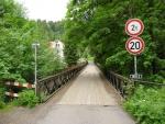 Most přes řeku Kamenici u Návarova před uzavřením