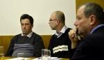 Zastupitelé města Lučany nad Nisou zleva: Martin Jiřička, Zdeněk Zoubek a Petr Štěpánek.