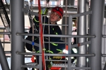 Cvičení hasičů na heliportu Krajské nemocnice Liberec