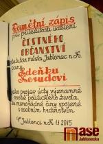 Čestné občanství i Cena PRO MERITIS byla udělena na tradičním Novoročním koncertu 1. ledna 2015.