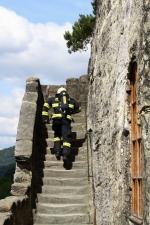 Soutěž HZS Libereckého kraje v disciplínách T.F.A. probíhala ve Skalním hradě Sloup v Čechách